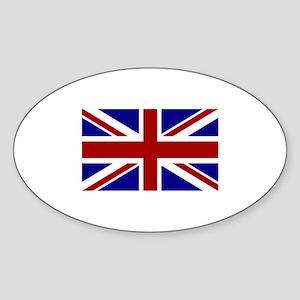 England Oval Sticker