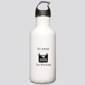 Go Away - I'm Writing Water Bottle