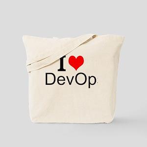 I Love DevOps Tote Bag