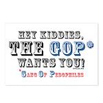 GOP=Gang of Pedophiles Postcards (Package of 8)