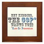 Kiddies, the GOP Wants You Framed Tile