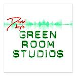 """Green Room Studios Square Car Magnet 3"""" x 3"""""""