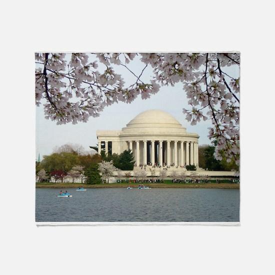 Thomas Jefferson Memorial Throw Blanket