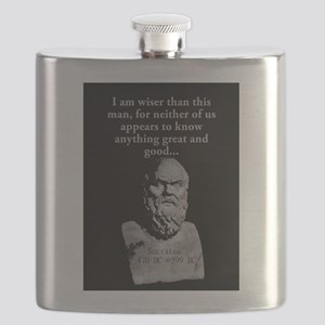 I Am Wiser Than This Man - Socrates Flask