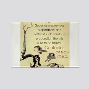 In All Things Success Depends - Confucius Magnets