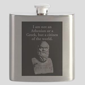 I Am Not An Athenian - Socrates Flask