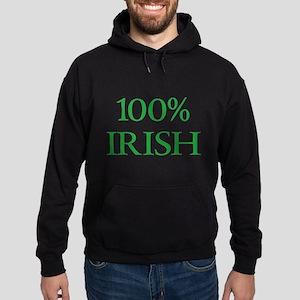 100% IRISH Hoodie (dark)