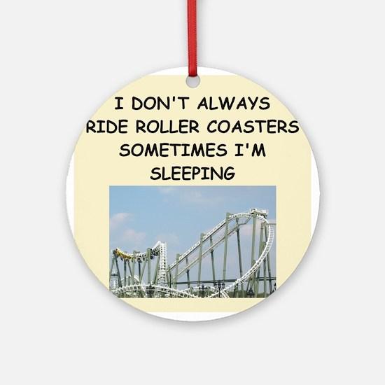 roller,coaster,amusement,park, Ornament (Round)