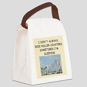 roller,coaster,amusement,park, Canvas Lunch Bag