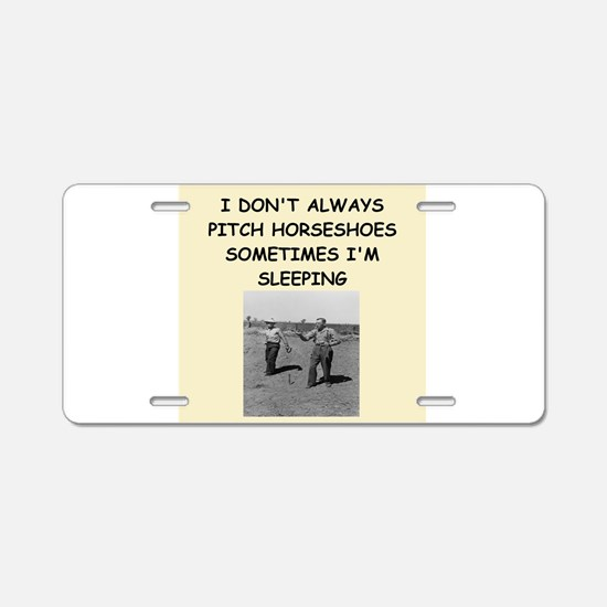 jorseshoes Aluminum License Plate