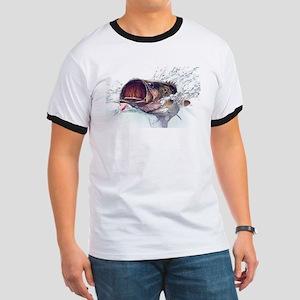 Bass Busting through T-Shirt