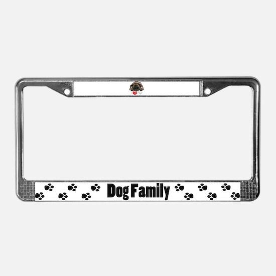 I love pugs License Plate Frame