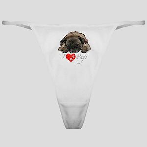 I love pugs Classic Thong