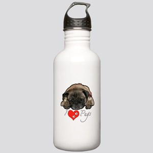 I love pugs Stainless Water Bottle 1.0L