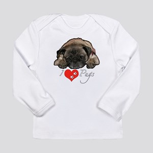 I love pugs Long Sleeve Infant T-Shirt