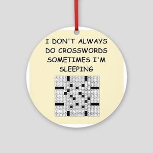 crosswords Ornament (Round)