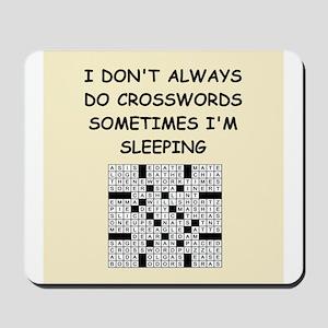 crosswords Mousepad