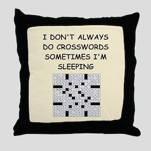 crosswords Throw Pillow