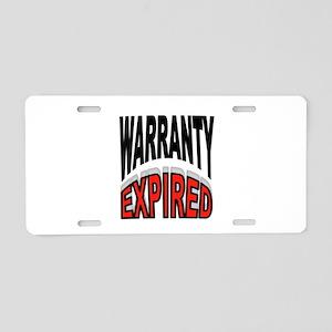 WARRANTY Aluminum License Plate