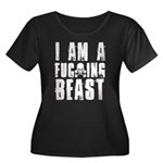 I am a F**king Beast Women's Plus Size Scoop Neck