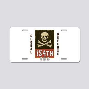 154th Global Defense Aluminum License Plate