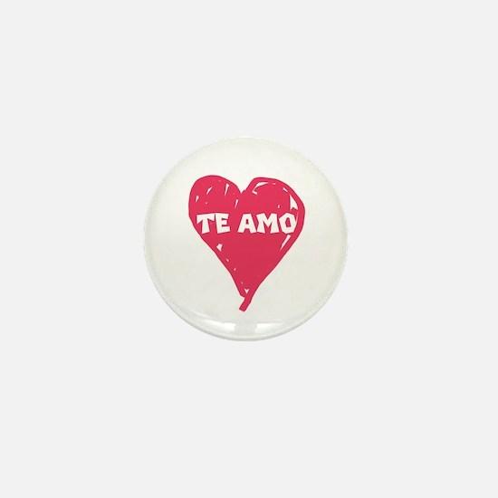 te amo mini button