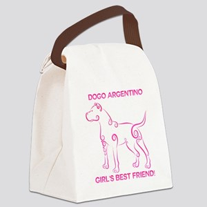 Girl's best friend-dogo argentino Canvas Lunch Bag