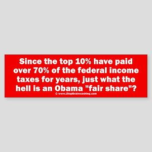 Obama fair share Sticker (Bumper)