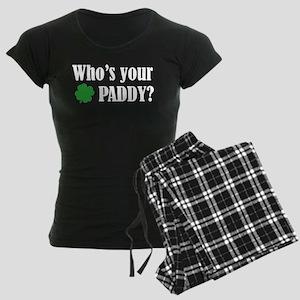 Who's Your Paddy? Women's Dark Pajamas