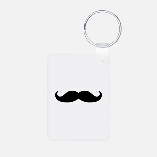 Hipster Moustache Aluminum Photo Keychain