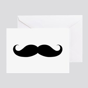 Hipster Moustache Greeting Card