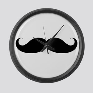 Hipster Moustache Large Wall Clock