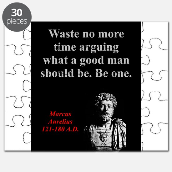 Waste No More Time - Marcus Aurelius Puzzle