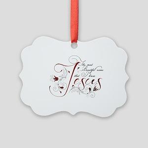 Beautiful name of Jesus Ornament