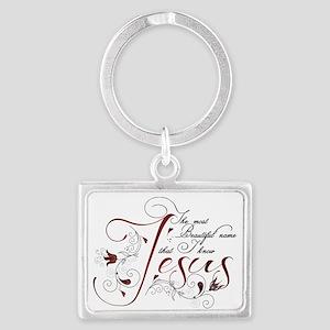 Beautiful name of Jesus Landscape Keychain