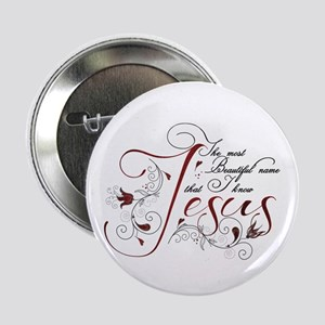 """Beautiful name of Jesus 2.25"""" Button (10 pack)"""
