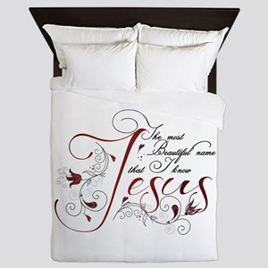 Beautiful name of Jesus Queen Duvet