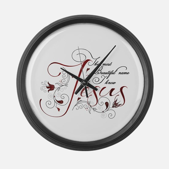 Beautiful name of Jesus Large Wall Clock