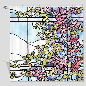 Tiffany Floral Skylight Shower Curtain