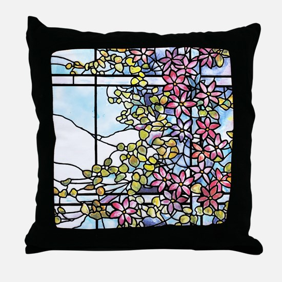 Tiffany Floral Skylight Throw Pillow