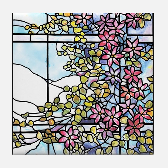 Tiffany Floral Skylight Tile Coaster