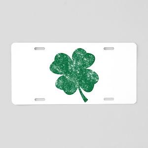 St Patrick's Shamrock Aluminum License Plate