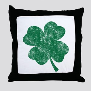 St Patrick's Shamrock Throw Pillow