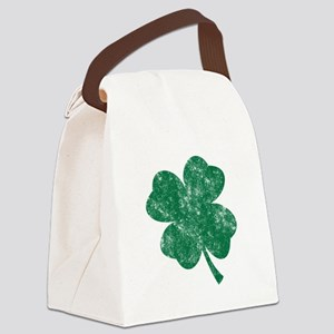 St Patrick's Shamrock Canvas Lunch Bag
