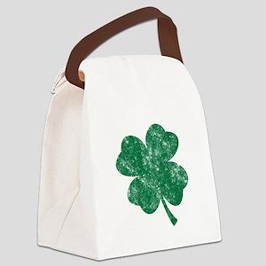 St Patrick's Shamrock Canvas Lunch Bag