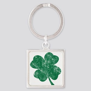 St Patrick's Shamrock Square Keychain