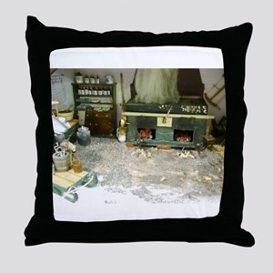 Woodworking Doll House Room Throw Pillow