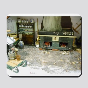 Woodworking Doll House Room Mousepad