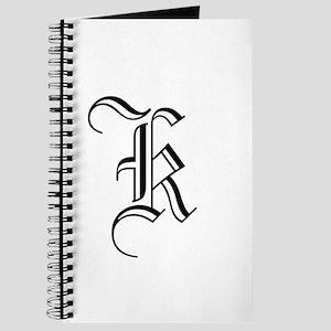 Blackletter Monogram K Journal