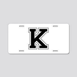 Collegiate Monogram K Aluminum License Plate